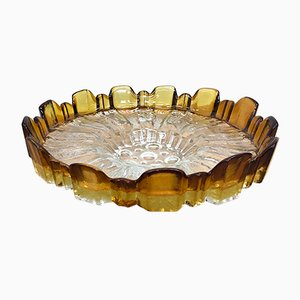 Finnish Ulpukka Glass Tray by Tauno Wirkkala for Humppila, 1970s