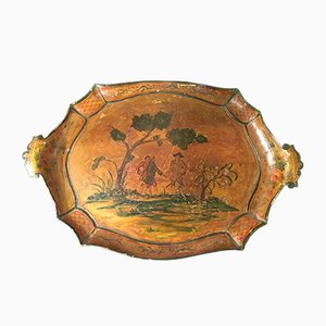 Antiker bemalter venezianischer Teller