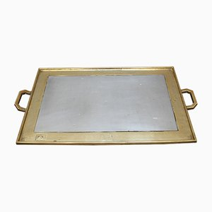 Brutalist Aluminium and Brass Serving Tray by David Marshall, 1970s