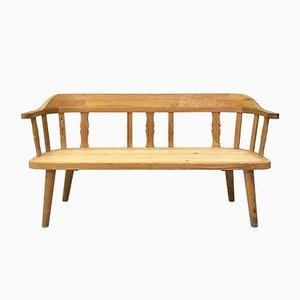 Norwegian Pine Bench from Krogenäs Møbler, 1970s