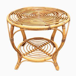 Italian Rattan Coffee Table, 1960s