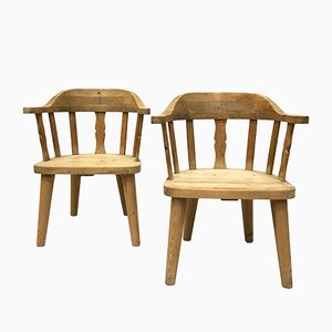 Norwegian Pine Armchairs from Krogenäs Møbler, 1970s, Set of 2