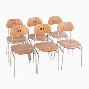 Chaises d'École, 1970s, Set de 6