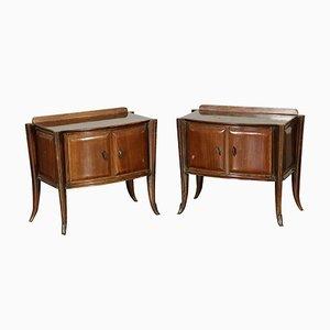 Tables de Chevet Vintage en Placage de Palissandre, 1950s, Set de 2