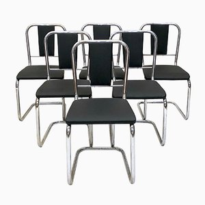 Chaises de Salon Mid-Century en Chrome, 1960s, Set de 6