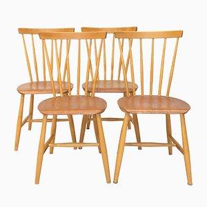 Skandinavische Mid-Century Esszimmerstühle, 1950er, 4er Set