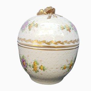 Antikes Bonbonglas aus Porzellan von Porcelaine De Paris