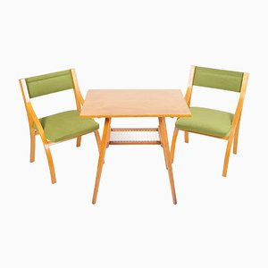 Table & Chairs by Ludvik Volak, 1970s, Set of 3