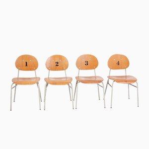 Chaises d'École Vintage, 1970s, Set de 4