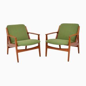 Dänische Armlehnstühle aus Teak von Arne Vodder für Vamø, 1950er, 2er Set