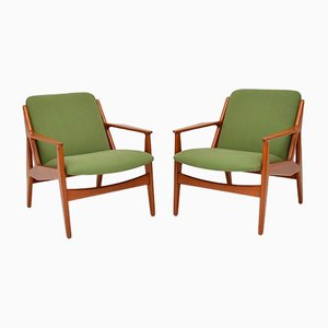 Danish Teak Armchairs by Arne Vodder for Vamø, 1950s, Set of 2