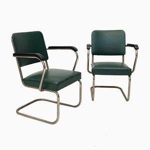 Skandinavische Armlehnstühle im Bauhaus-Stil, 1940er, 2er Set