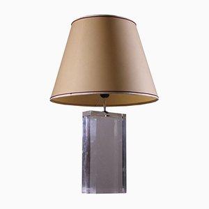 Vintage Italian Plexiglas Table Lamp, 1980s