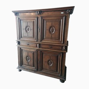Antique Walnut 2-Part Cabinet