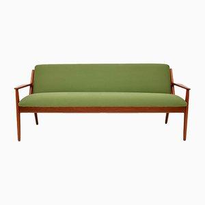 Dänisches Sofa mit Gestell aus Teak von Arne Vodder, 1950er
