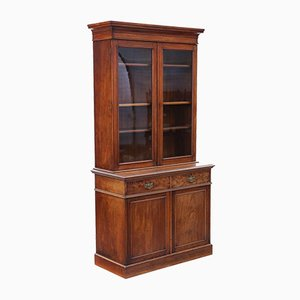 Antique Victorian Mahogany Glazed Bookcase Display Cabinet