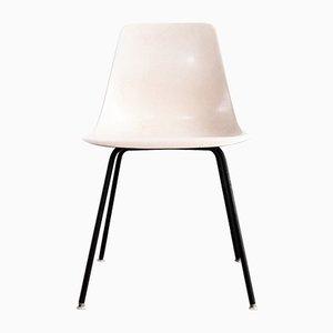 Weißer Beistellstuhl aus Glasfaser, 1960er