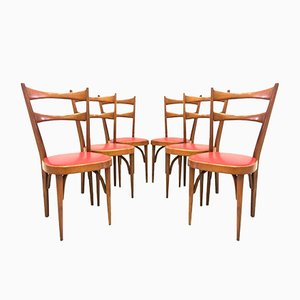 Chaises de Salon, 1950s, Set de 6