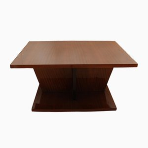 Large Art Deco Walnut Veneer Side Table, 1930s