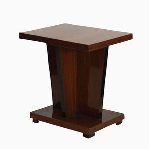 Tavolino Art Deco impiallacciato in noce, anni '30