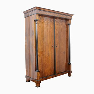 Biedermeier Walnut Veneer Armoire, 1820s