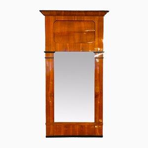 Biedermeier Cherry Veneer Mirror, 1830s