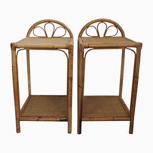 Cane Bedside Tables, 1960s, Set of 2