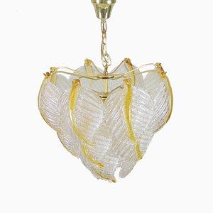 Lámpara de techo de cristal de Murano de Mazzega, años 70