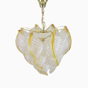 Murano Glass Ceiling Lamp from Mazzega, 1970s