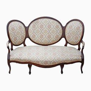 Canapé antiguo de nogal
