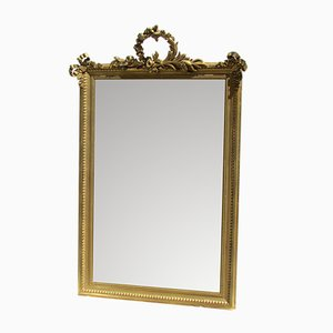 19th-Century Golden Metal Mirror
