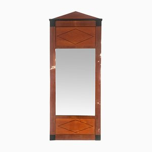 Biedermeier Cherry Veneer and Ebony Inlay Mirror, 1830s