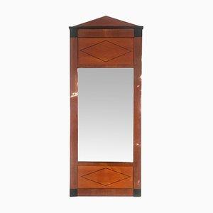 Biedermeier Cherry Veneer and Ebony Inlay Mirror, 1830s