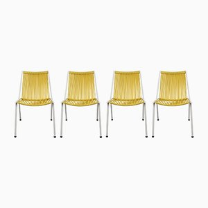 Vintage Yellow Chairs, 1950s, Set of 4