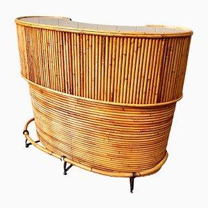 Vintage Tiki Cocktailbar aus Bambus von J. Burdekin, 1960er