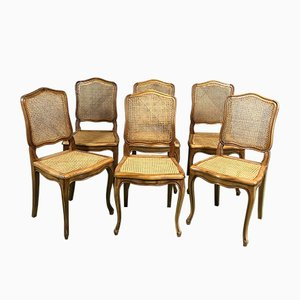 Louis XV Style Cane Chairs, 1960s, Set of 6