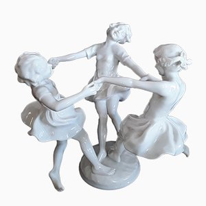 Art Deco Maywood Dance Porcelain Figure by Karl Tutter for Hutschenreuther
