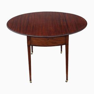 Antique Regency Inlaid Mahogany Pembroke Side Table
