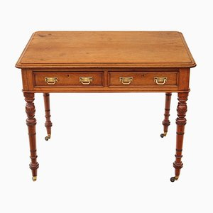 Antique Victorian Satin Walnut Writing Table