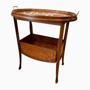Carrello antico Art Nouveau in legno