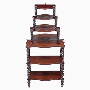 Antique Victorian Rosewood Open Shelf