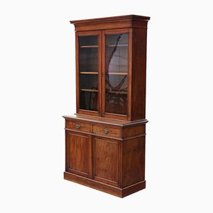 Tall Antique Victorian Mahogany Glazed Display Cabinet
