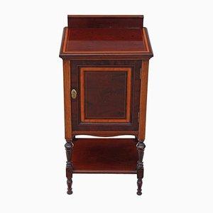 Table de Chevet Édouardienne Antique en Acajou Marqueté de Maple & Co.