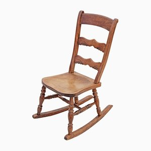 Antique Edwardian Elm & Beech Rocking Chair