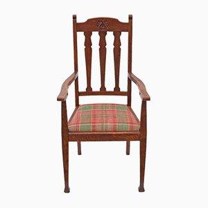 Stuhl aus Eiche im Jugendstil
