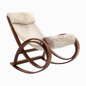 Sgarsul Rocking Chair by Gae Aulemnti for Poltronova, 1960s