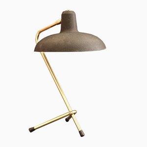 Schwarze dreibeinige französische Vintage Cocotte Tischlampe, 1950er
