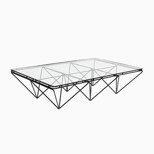 Mesa de centro italiana geométrica, años 70