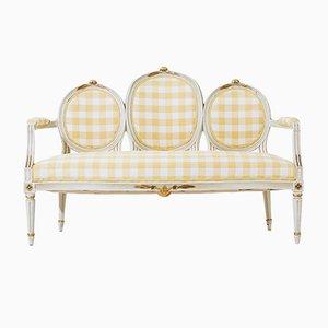 Gustavianisches Medaillon Sofa, 1850er