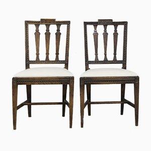 Gustavianische Beistellstühle von John Ericsson, 1830er, 2er Set